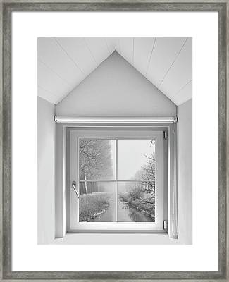 A Crystal View From My Window ... Framed Print