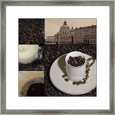 A Cup Of Coffee In Venice - Canal Grande - Elena Yakubovich Framed Print by Elena Yakubovich