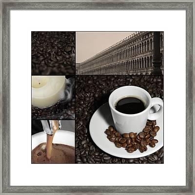 A Cup Of Coffee In Venice - St Marks Square - Elena Yakubovich Framed Print by Elena Yakubovich