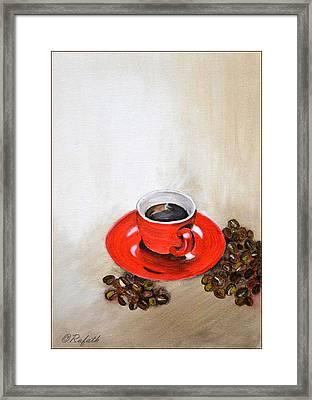 A Cup Of Coffee Framed Print by Rafath Khan