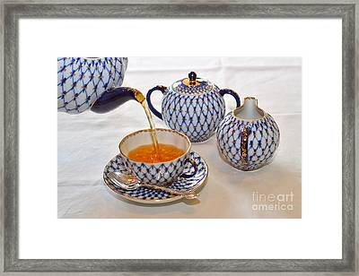 A Cup Of Tea Framed Print by Louise Heusinkveld