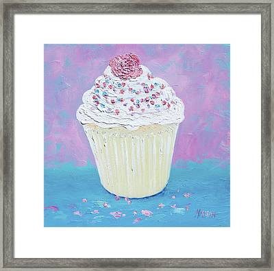 A Cupcake For Your Morning Tea Framed Print by Jan Matson