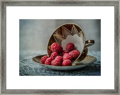 A Cupfull Of Raspberries Framed Print by Maggie Terlecki
