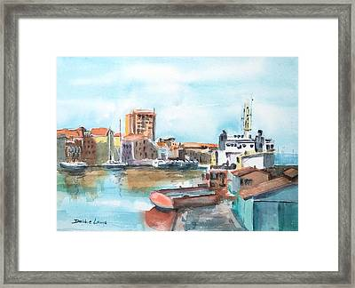 A Curacao Morning Framed Print by Debbie Lewis