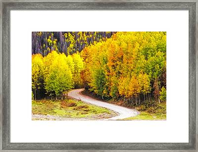A Curve In The Road Framed Print by Teri Virbickis