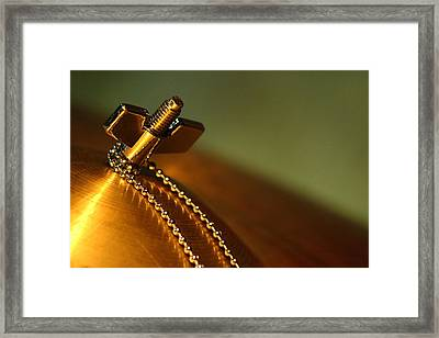A Cymbal On Stage Framed Print