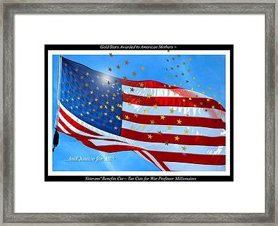 A Cynical View Of War Editorial Comment Framed Print by A Gurmankin