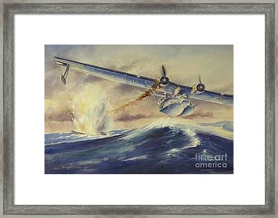 A Damaged Pby Catalina Aircraft Framed Print by TriFocal Communications