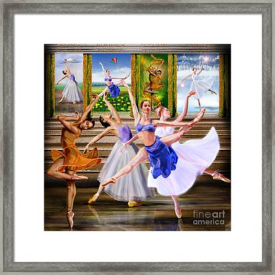 A Dance For All Seasons Framed Print by Reggie Duffie