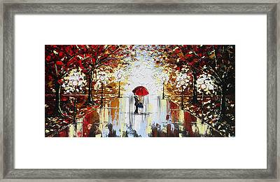 A Dance In The Rain Framed Print by Christine Krainock