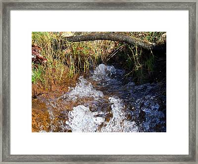 A Dance Of Ripples And Water Framed Print