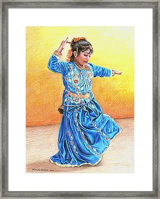 A Dancer Framed Print by Noriko DeWitt