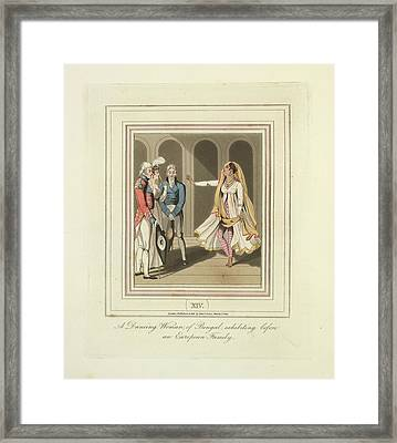 A Dancing Woman Framed Print by British Library