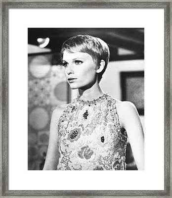 A Dandy In Aspic, Mia Farrow, 1968 Framed Print
