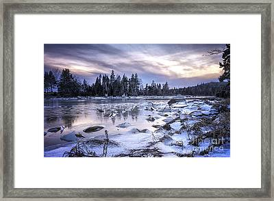 A Dangerous Cove Framed Print