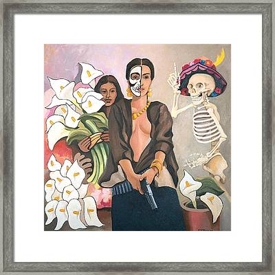 A Dangerous Woman Framed Print