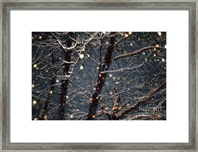 A Dark And Snowy Night Painterly 3 Framed Print