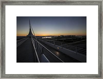 A Dawn Look Into The Milwaukee Art Museum Framed Print