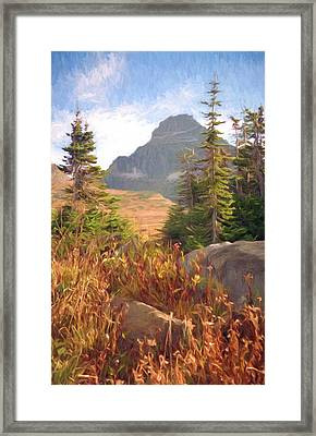A Day At Glacier Framed Print by Richard Rizzo