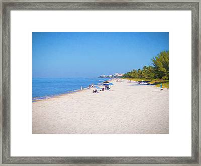 A Day At Naples Beach Framed Print