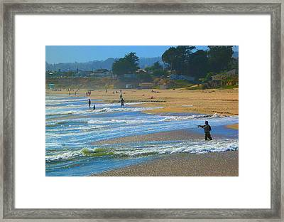 A Day At The Beach #1 Framed Print