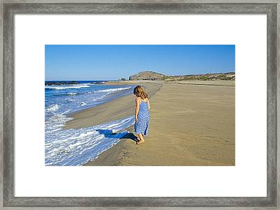 A Day At The Beach Framed Print by Buddy Mays