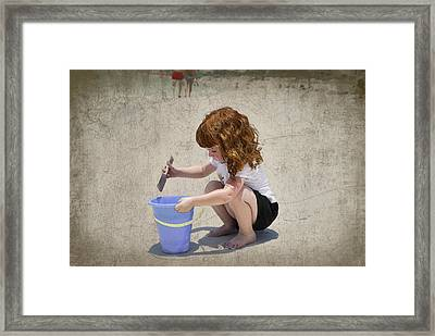 A Day At The Beach Framed Print by Charles Beeler