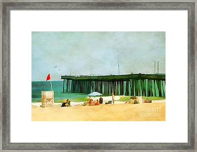 A Day At The Beach Framed Print by Darren Fisher