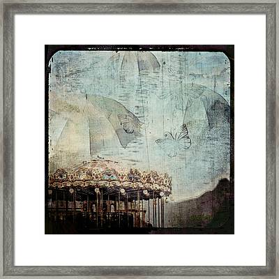 Framed Print featuring the digital art A Day At The Beach by Delight Worthyn