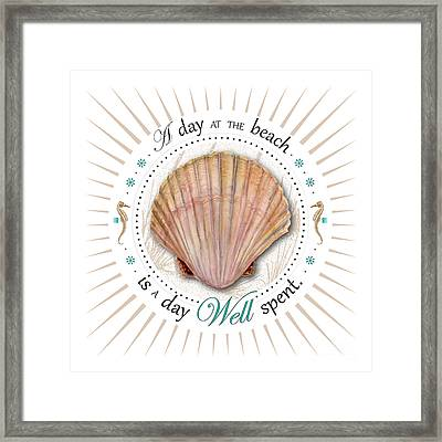 A Day At The Beach Is A Day Well Spent Framed Print by Amy Kirkpatrick