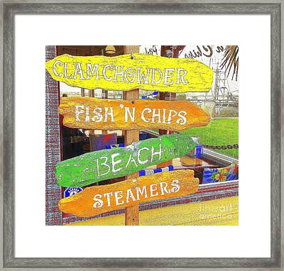 A Day At The Beach Framed Print by Kris Hiemstra