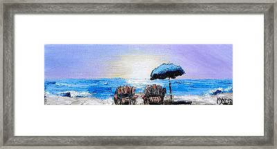A Day At The Beach Framed Print by Melissa Torres