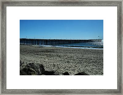 Framed Print featuring the photograph A Day At The Beach by Michael Gordon