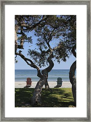 A Day At The Beach Framed Print by Mike McGlothlen