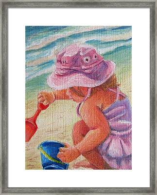 A Day At The Beach Framed Print by Mikki Carnevale