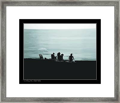 Framed Print featuring the photograph A Day At The Beach by Pedro L Gili