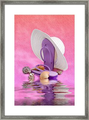 A Day At The Beach Still Life Framed Print
