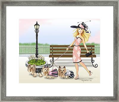 A Day At The Derby Framed Print by Catia Cho