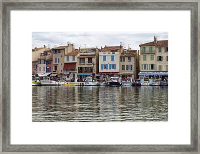 A Day At The Seaside Town Of Cassis Framed Print