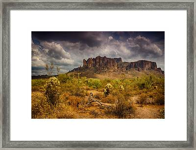 A Day At The Superstitions  Framed Print