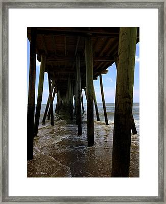 Framed Print featuring the pyrography A Day At Virginia Beach by Rebecca Davis
