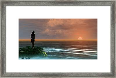 A Day Ends Framed Print