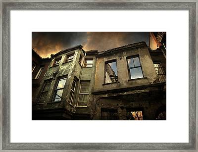 A Day In Balat Framed Print