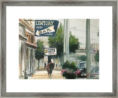 A Day In Downtown Dayton Framed Print