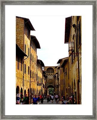 A Day In Sienna Italy Framed Print by Margaret Glenn