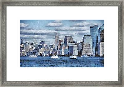 A Day In The Big City Framed Print by Dan Sproul
