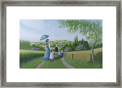 A Day In The Country, 1996 Framed Print by Peter Szumowski