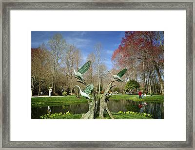 A Day In The Gardens Framed Print