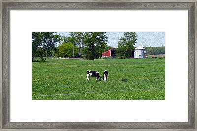 A Day In The Life - Digital Painting Effect Framed Print by Rhonda Barrett