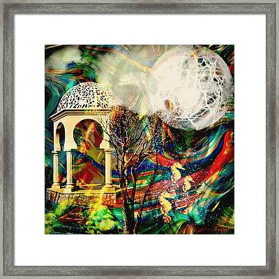 Framed Print featuring the mixed media A Day In The Park by Ally  White